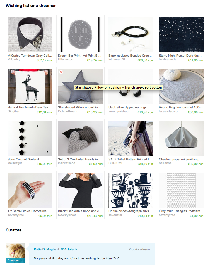 wishing list treasury