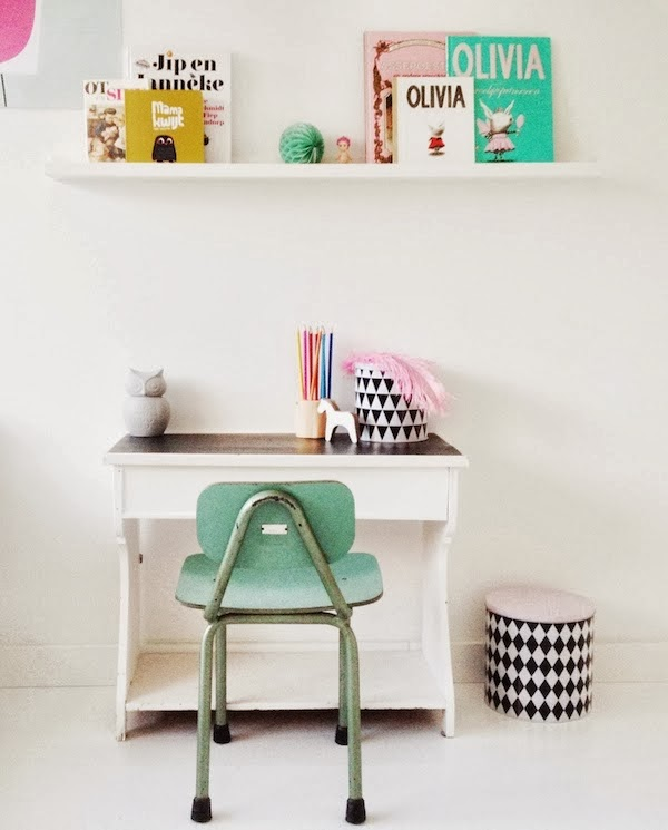 green chair in kid room
